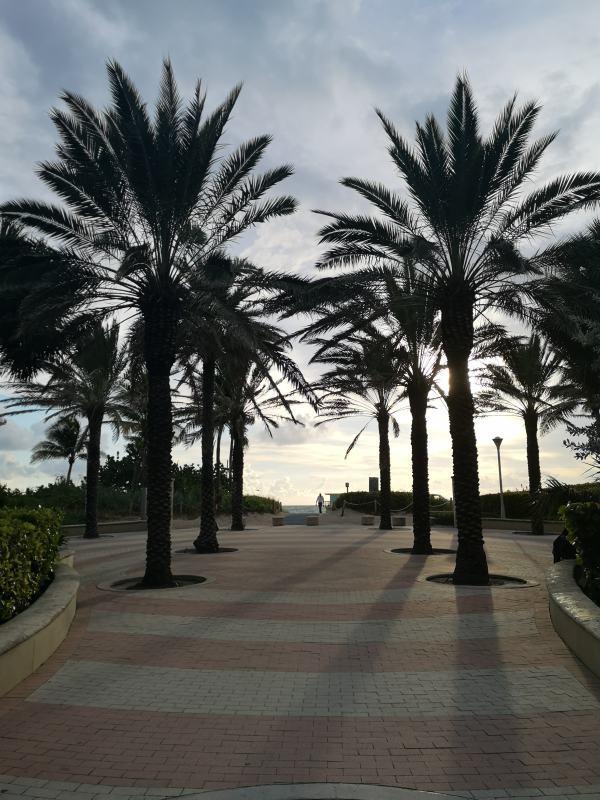 La passeggiata lungo la spiaggia di South Beach
