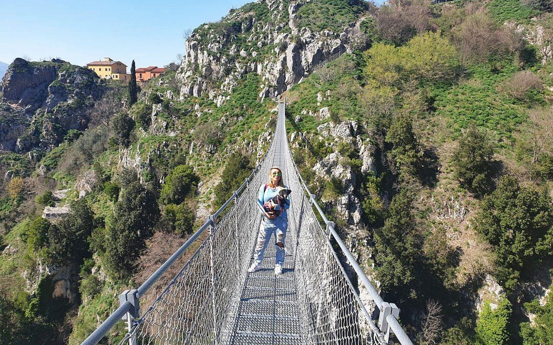 Gite in Campania, Ponte tibetano di Laviano e oasi WWF di Senerchia