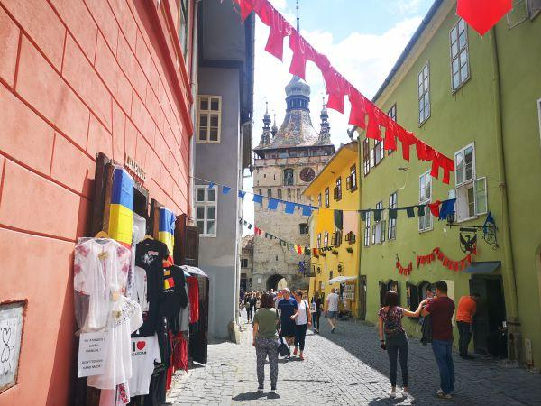 center of Sighisoara Transylvania
